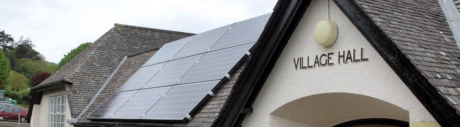 solar panels in Porlock