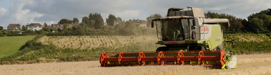 Combine at Porlock Marsh