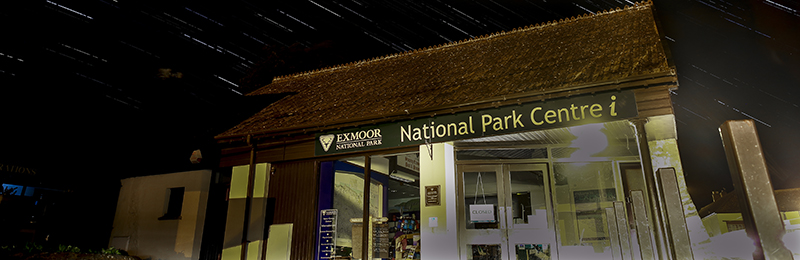 Dunster Visitor Centre - startrails Exmoor