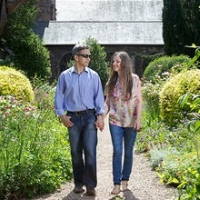 Couple Walking in Dunster