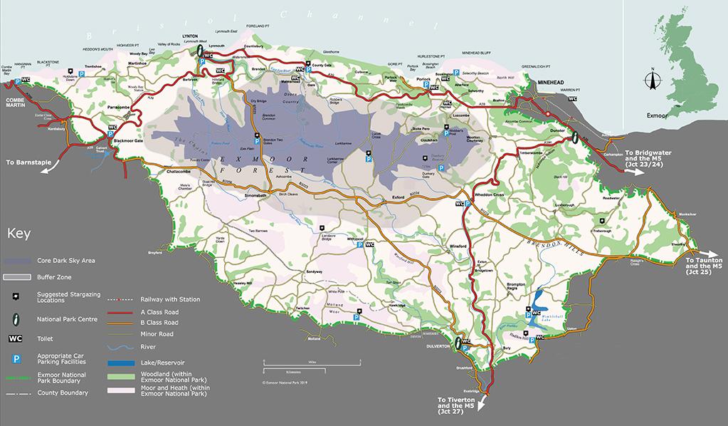 Exmoor Dark Skies map