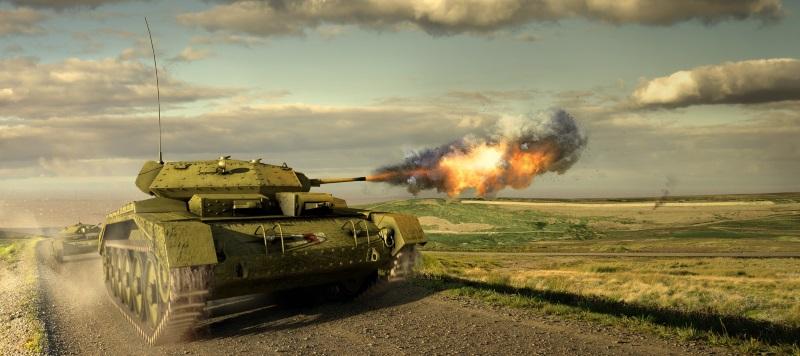 Tank training on North Hill