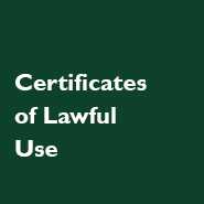 Certificates of Lawful Use