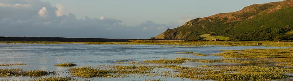 High Tide+sunset at Porlock Marsh