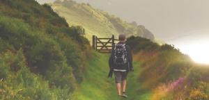 walker on path